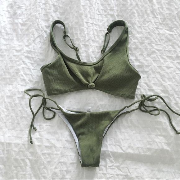 a1afa4b6f034e Olive green bikini set small NWOT. M_5c982cb9d6dc528f4ba86f66.  M_5c982cbafe515101fbed31ec. M_5c982cb9d6dc528f4ba86f66;  M_5c982cbafe515101fbed31ec
